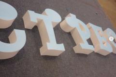 Окраска объемных букв
